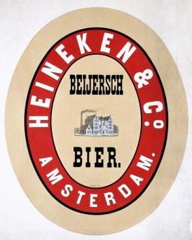 Oldest known Heineken poster (1867)