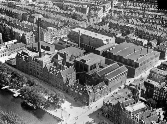 Brewery in Amsterdam in bird's eye view