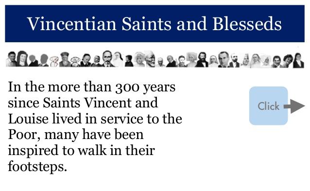 Mobile device tour of Vincentian Family Saints