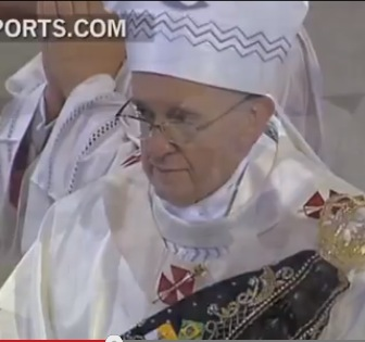 An emotional Pope