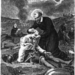 Vincent de Paul cares for war wounded