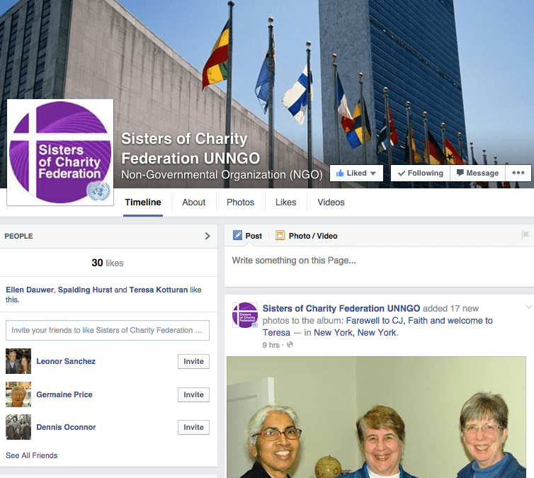Sisters of Charity NGO Facebook page