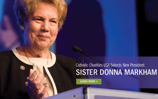 First woman President of Catholic Charities