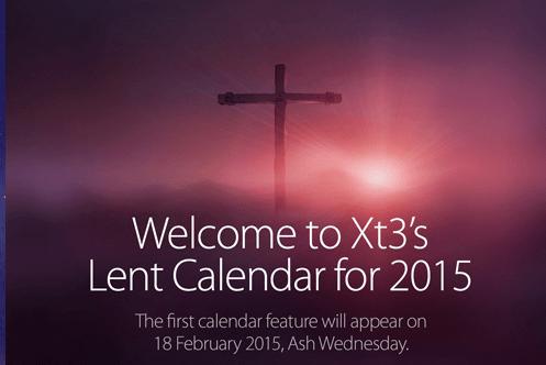XT3 2015 interactive Lenten calendar