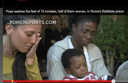 Pope washes prisoner's feet – Do we understand?