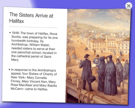 Anniversary of Sisters of Charity landing in Halifax