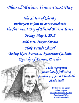 Rejoice with the Sisters of Charity!