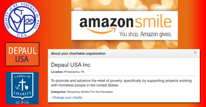 You shop… Amazon gives to the Vincentian Family