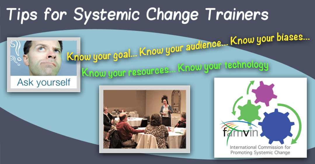 Systemic Change: Tips for Trainers