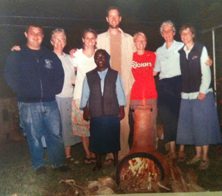 Nick, Sr. Pat, Liz, Sr. Esther, Matt, Raelynne, Sr. Mary Shea, Sr. Sharon in Kenya