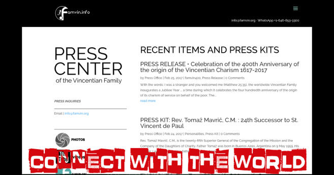 Connect with the World: a Vincentian Family Press Office