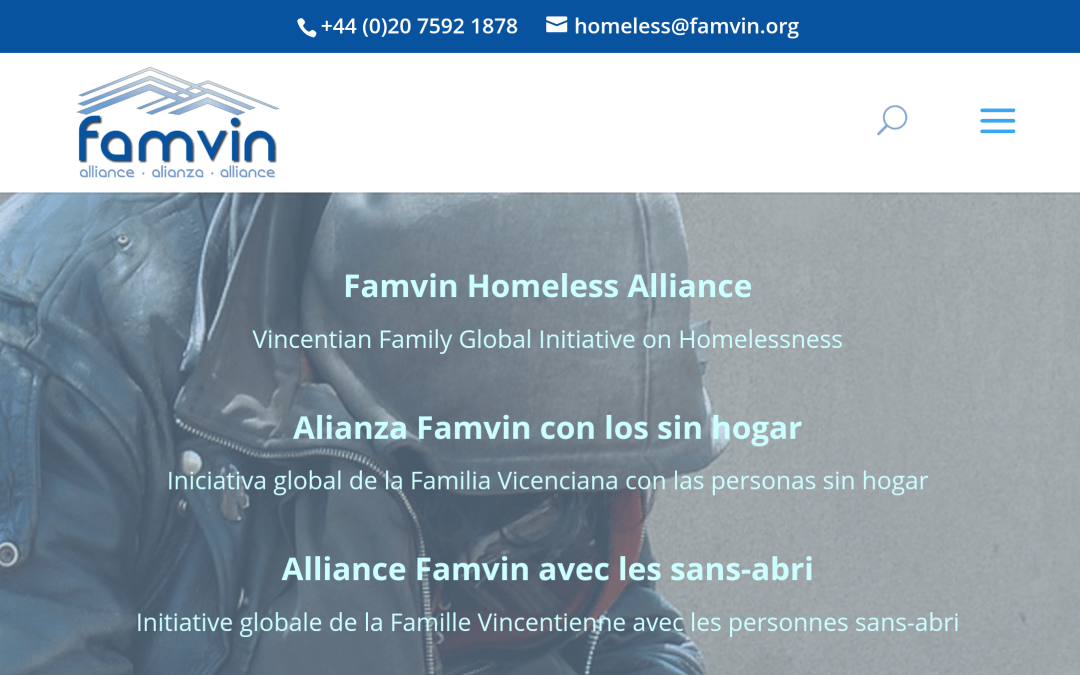 Famvin Homeless Alliance Launches Internet Presence