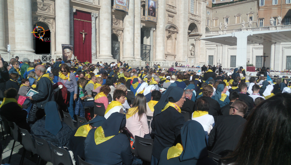 Video from the Vincentian Family Encounter with Pope Francis at #famvin400