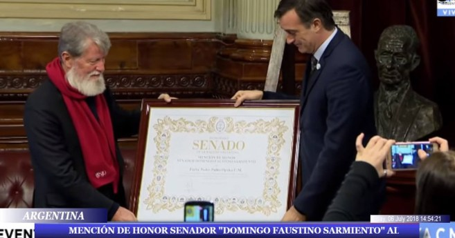 Fr. Pedro Opeka, CM, Received Honorable Mention from the Argentine Senate