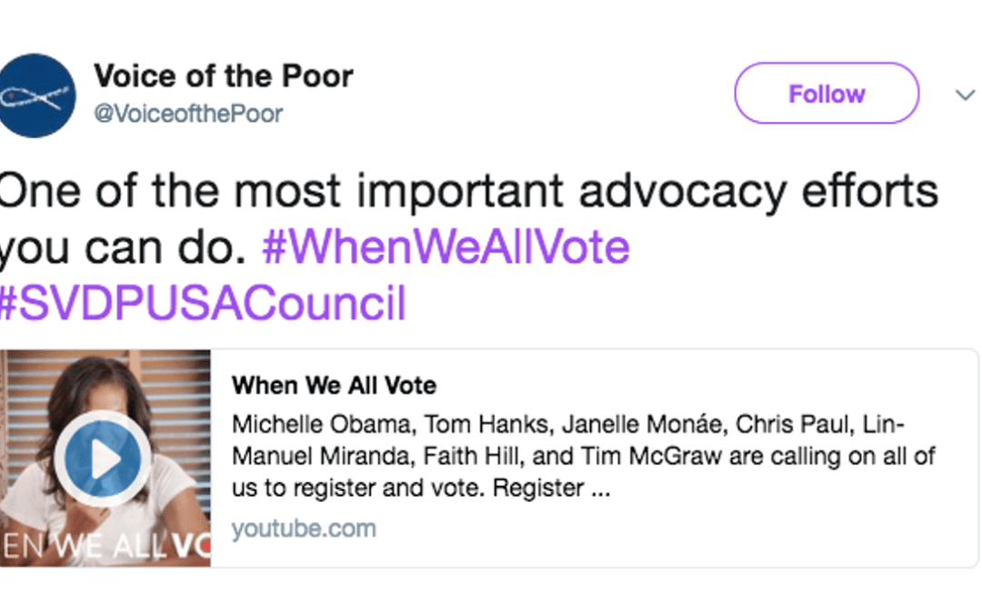 Echo the Voice of the Poor @SVDPUSACouncil