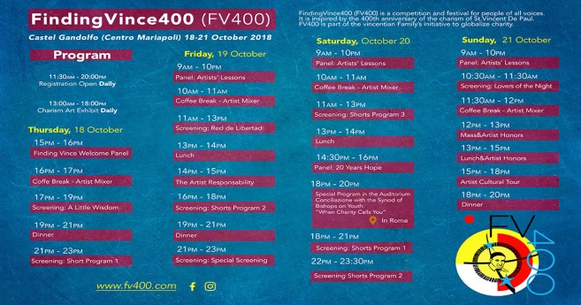 """""""Finding Vince 400"""" Symposium Schedule"""