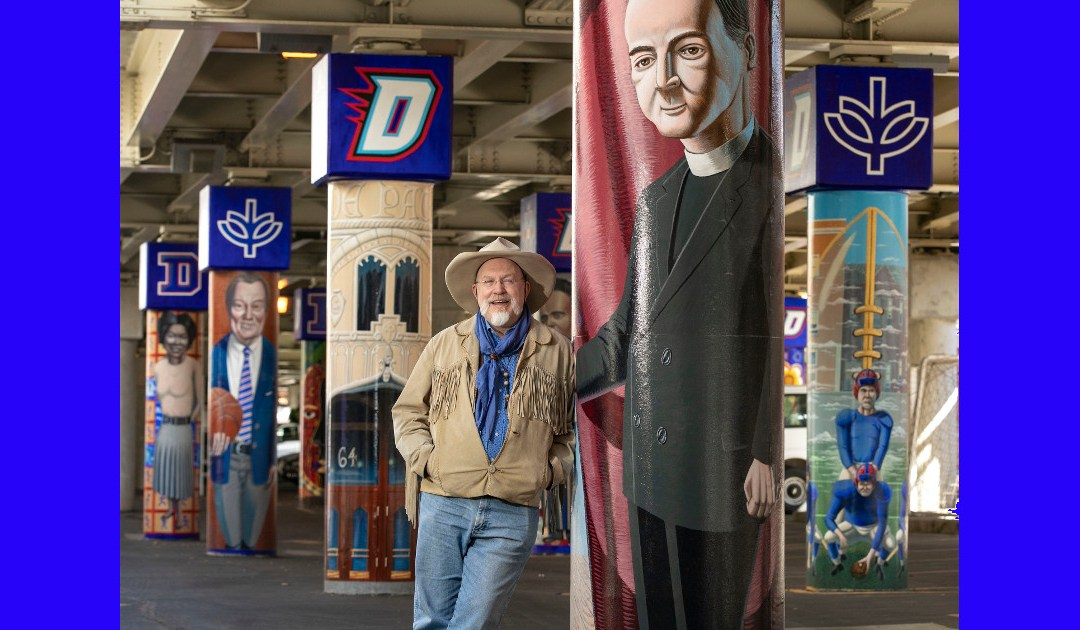 Four New Murals Under Fullerton 'L' Station Explore Key Moments In Depaul History