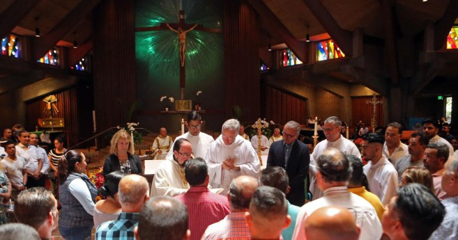 Fr. Tomaz Mavric Blesses Workers in Napa Valley
