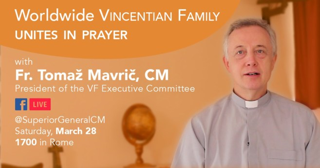 Vincentian Family Prayer Meeting on Facebook, Saturday, March 28