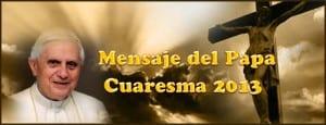 mensaje_papa_cuaresma_2013