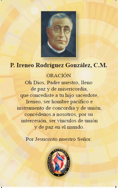 El Padre Ireneo Rodríguez González (1879-1936) | FAMVIN
