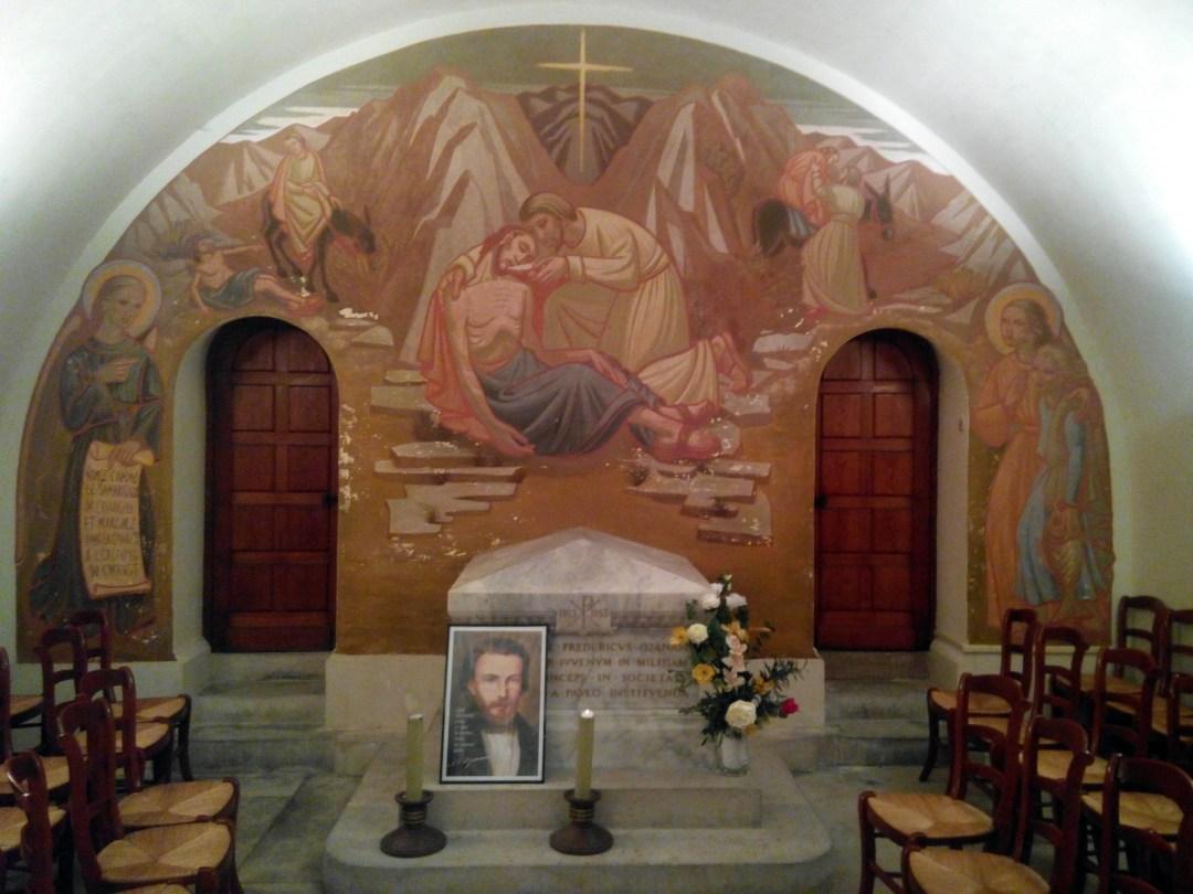 Cripta de Federico Ozanam tal y como está en la actualidad.