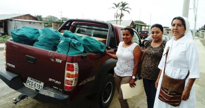 Las Hijas de la Caridad siguen trabajando con los afectados del terremoto de Ecuador