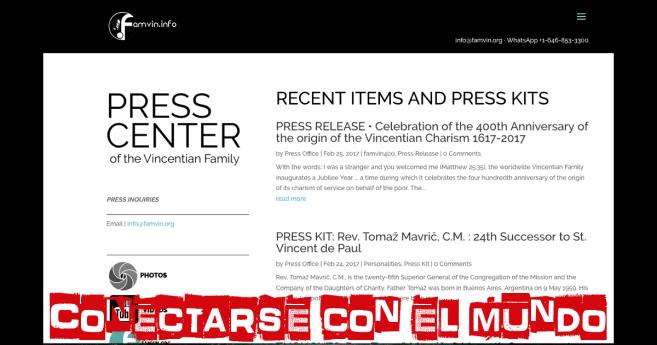 Conectarse con el Mundo: Oficina de Prensa de la Familia Vicenciana