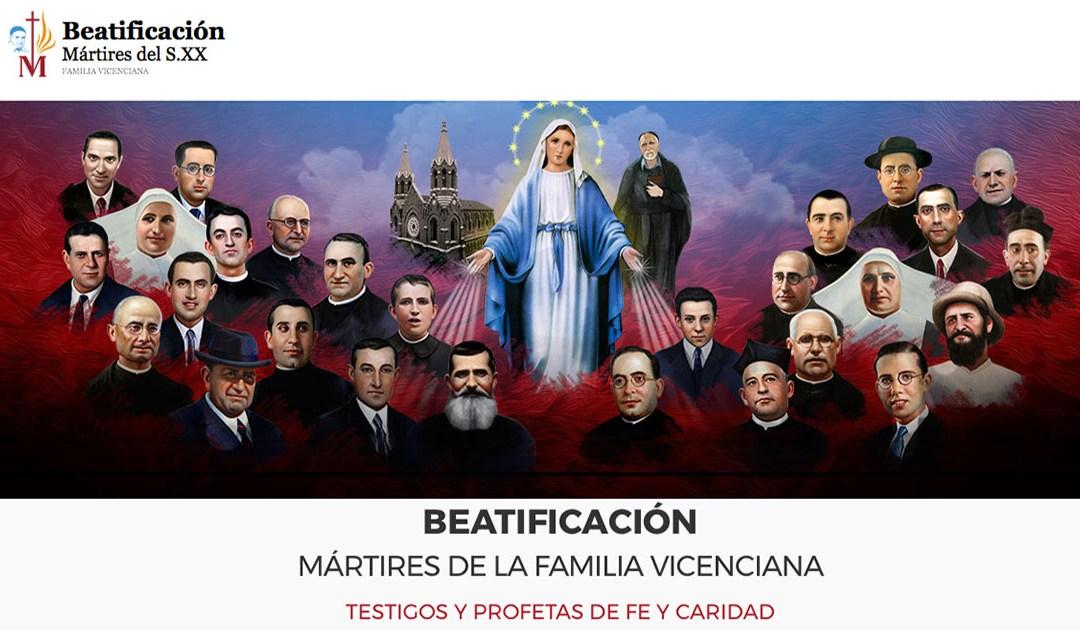 Inscripción para la beatificación de los mártires de la Familia Vicenciana de España