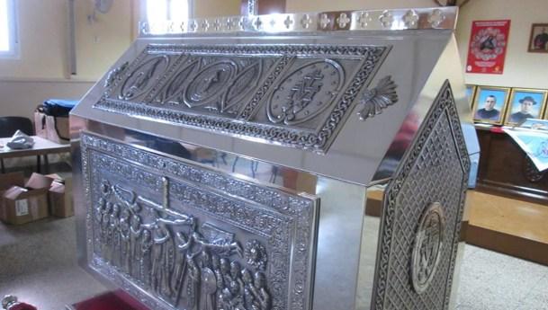 Imágenes del relicario que guardará las reliquias de los mártires