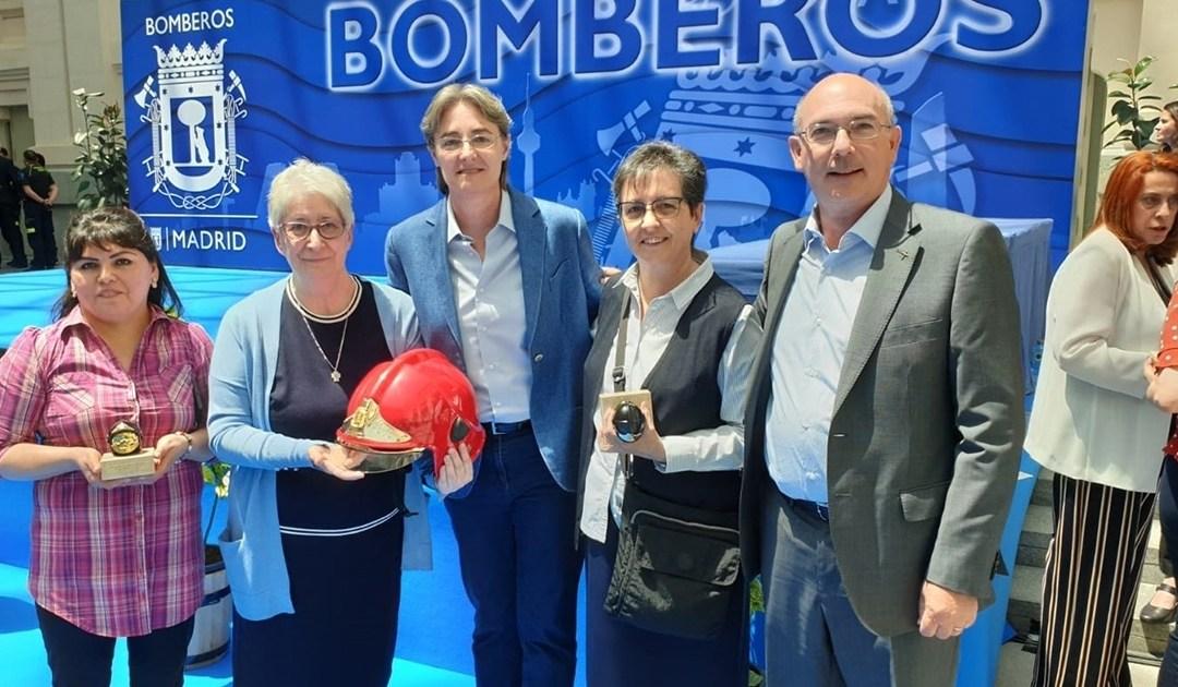 Las Hijas de la Caridad, premiadas por el Cuerpo de Bomberos de Madrid