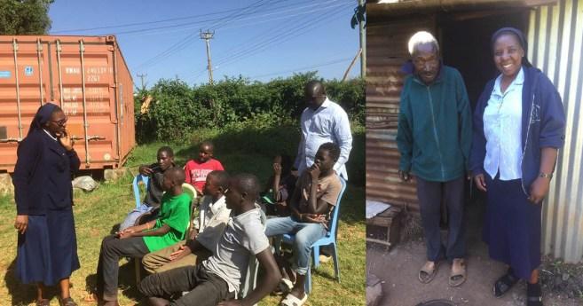 Jóvenes y mayores, al cuidado de las Hijas de la Caridad en Kenia