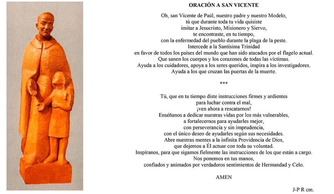 Oración a san Vicente ante la pandemia del coronavirus
