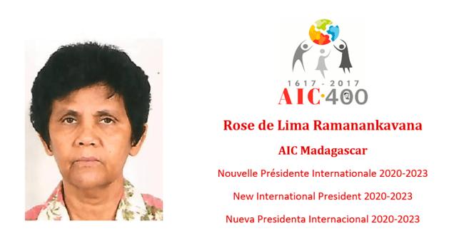 Rose de Lima Ramanankavana (Madagascar), nueva Presidenta Internacional de la Asociación Internacional de Caridades