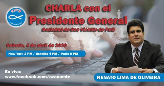 ¡No te pierdas el tercer «Talk Show» del Presidente General de la Sociedad de San Vicente de Paúl!