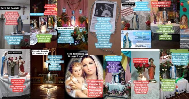 Peregrinación virtual de la Virgen Milagrosa en El Salvador, en tiempos de pandemia