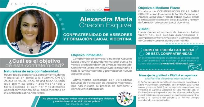 Entrevista a Alexandra María Chacón Esquivel, responsable de la Confraternidad de Asesores y formación laical vicentina