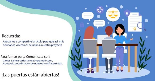 Reunión de la confraternidad abogados vicentinos