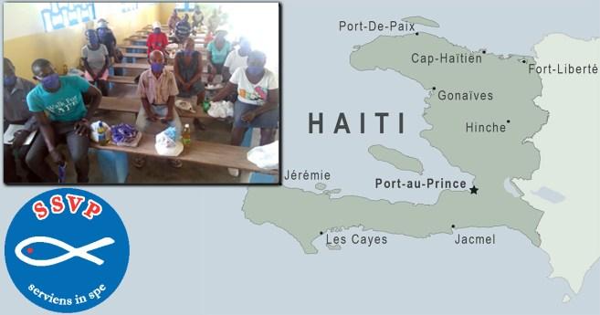 En Haití, la SSVP ayuda a 500 familias en su lucha contra la pandemia