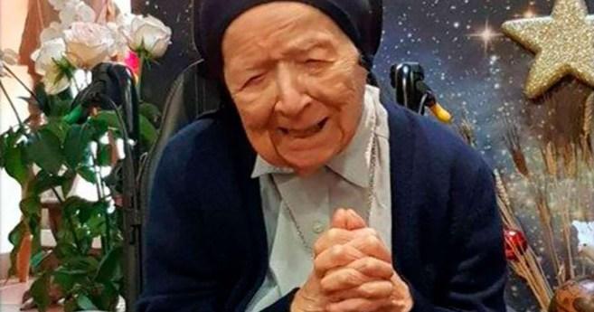 Sor André Randon, hija de la caridad, la persona más anciana de Europa y la segunda del mundo, supera el covid-19