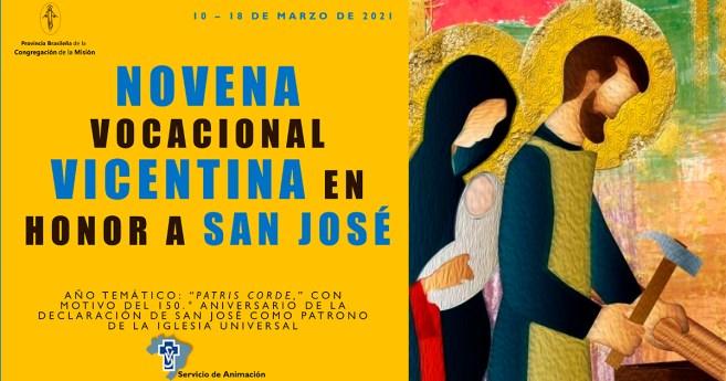 Novena vocacional vicentina en honor a San José. Día 9