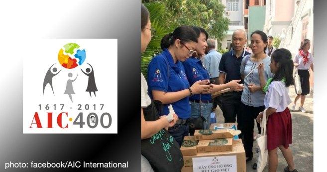 Las voluntarias de AIC en Vietnam trabajan para reducir los residuos de plástico