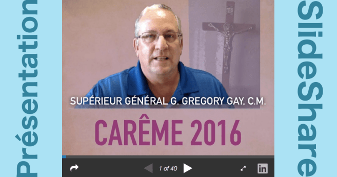 Lettre de Carême 2016: Présentation