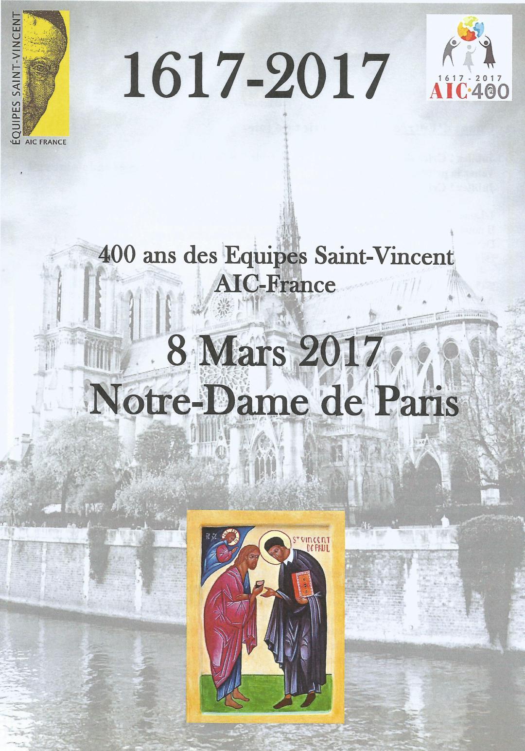 Messe des 400 ans des Equipes Saint Vincent «AIC-France»