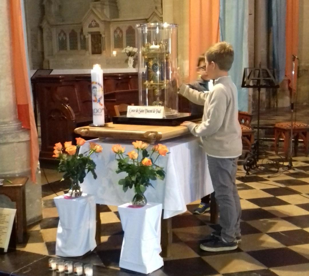 La paroisse du Pays de Chaussée reçoit le cœur de M. Vincent