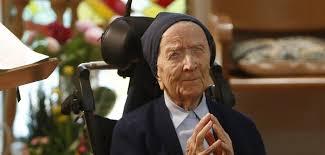 Sœur André: Doyenne de l'Europe, vice-doyenne de l'humanité, doyenne des religieuses dans le monde