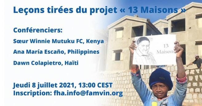 Session en ligne : Leçons tirées du projet « 13 Maisons »