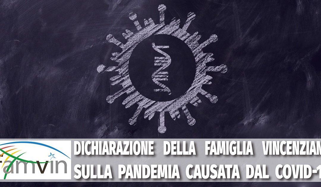 Dichiarazione della Famiglia Vincenziana sulla pandemia causata dal COVID-19