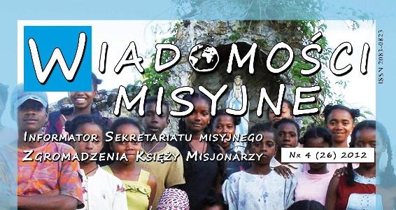 «Wiadomości Misyjne» nr 26 (4/2012)