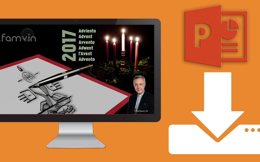 List Ks. Tomaža Mavriča CM na Advent w 2017 w prezentacji graficznej